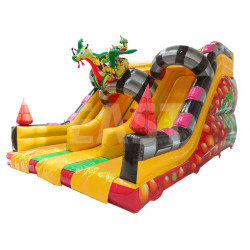 Toboggan Gonflable Dragon Double